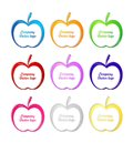 3D colored apple logo Royalty Free Stock Photos