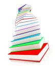 3d colored books massive for design Royalty Free Stock Photos