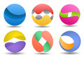 3d colored spheres Royalty Free Stock Image