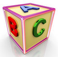 3d colorful abc cube Royalty Free Stock Photos