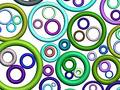 3D-colorful abstract pattern(on white) Royalty Free Stock Images