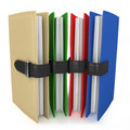 3d colorful folders Stock Photo