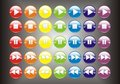3D Colorful player buttons Royalty Free Stock Image