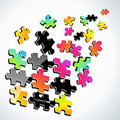 3d Colorful Puzzle Royalty Free Stock Photography