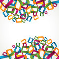 3d colorful square background Stock Photo