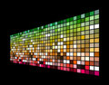 3D colorful squares Stock Image