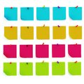 3d colorful sticky notes Stock Image