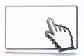 3D computer hand cursor Royalty Free Stock Photo