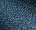 3d concave curved blue grunge mosaic surface Stock Image