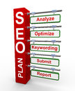 3d concept of Seo search engine optimization plan Stock Image
