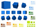 3d cubes color variation Royalty Free Stock Photo