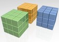 3D Cubical blocks Royalty Free Stock Photography