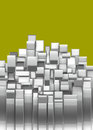 3d curved rectangular silver chrome shapes Royalty Free Stock Photo