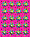 3D Daisy Dot in Hot Pink Royalty Free Stock Images