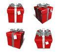3d decorated red gift Royalty Free Stock Photo