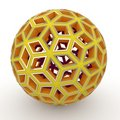 3d decorative yellow sphere Royalty Free Stock Photos