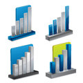 3d diagram set - vector illustration Stock Image