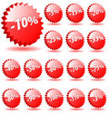 3D discount badges. Stock Photos