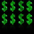 3D dollar symbols Stock Image