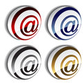 3D e-mail icons Stock Photography