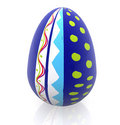 3D easter egg Royalty Free Stock Images