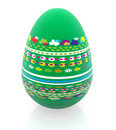 3D easter egg Royalty Free Stock Image