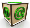 3d email sign cube Stock Photography