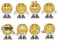 3D Emoticons set 1 Royalty Free Stock Photo