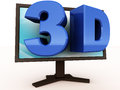 3d entertainment on monitor Royalty Free Stock Photography
