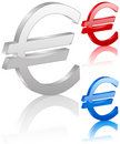 3D euro symbol Royalty Free Stock Image