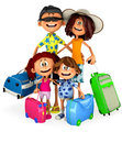 3D Family on holidays Stock Photography