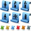 3D Family Scroll Buttons Royalty Free Stock Photography
