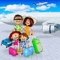 3D family vacations Royalty Free Stock Photography