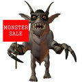 3D Figure With Sale Sign Royalty Free Stock Photography