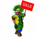 3D Figure With Sale Sign Stock Image