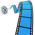 3D FILM SPIRAL Royalty Free Stock Image