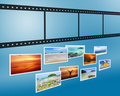 3D Film strip with nicel pictures Stock Photography