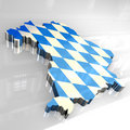 3d flag map of bavaria Stock Photo