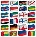 3D flags set Royalty Free Stock Photos