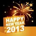 3D, Gelukkig nieuw jaar 2013 Stock Foto's