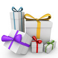 3d gifts Royalty Free Stock Photography