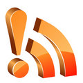 3d glossy rss icon Royalty Free Stock Photo