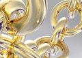 3D Gold Chain Royalty Free Stock Images