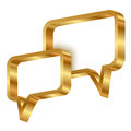 3d gold speech bubbles Stock Images