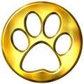 3D Golden Framed Cat Print Royalty Free Stock Photos