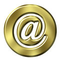 3D Golden Framed Email Symbol Stock Images