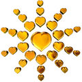3D golden hearts Stock Image