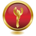 3d Golden Key Euro.button.Vector Royalty Free Stock Photo