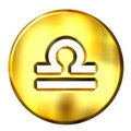 3D Golden Libra Zodiac Sign Royalty Free Stock Photo