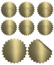 3d Golden Percentage Badges Royalty Free Stock Photo